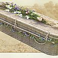 """2.1 - """"Asian Harmony"""" - Seagrass Coffin, curved end*"""