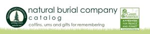 Natural Burial Company coffin, urn, and gift catalog