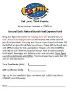 Natural End Fundraiser Flyer