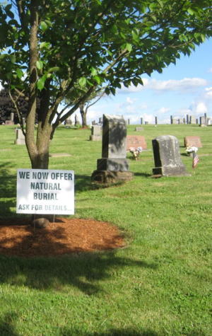 natural burial at rest lawn