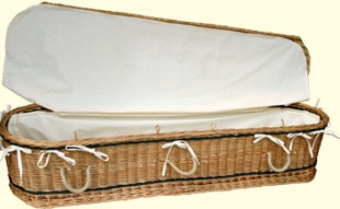 Somerset Willow 6 - Natural Cotton Liners <em>included with all Somerset caskets</em>