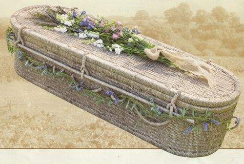 "2.1 - ""Asian Harmony"" - Seagrass Coffin, curved end*"