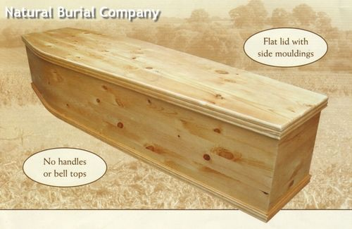 9.5 Meynell's Plain Pine Coffin - Unfinished