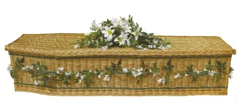 "4.2 - ""The English"" Natural Willow Coffin, traditional shape*"